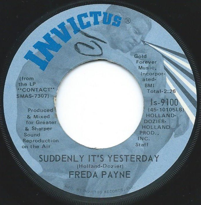 FREDA PAYNE / YOU BROUGHT THE JOY / SUDDENLY IT'S YESTERDAY (7