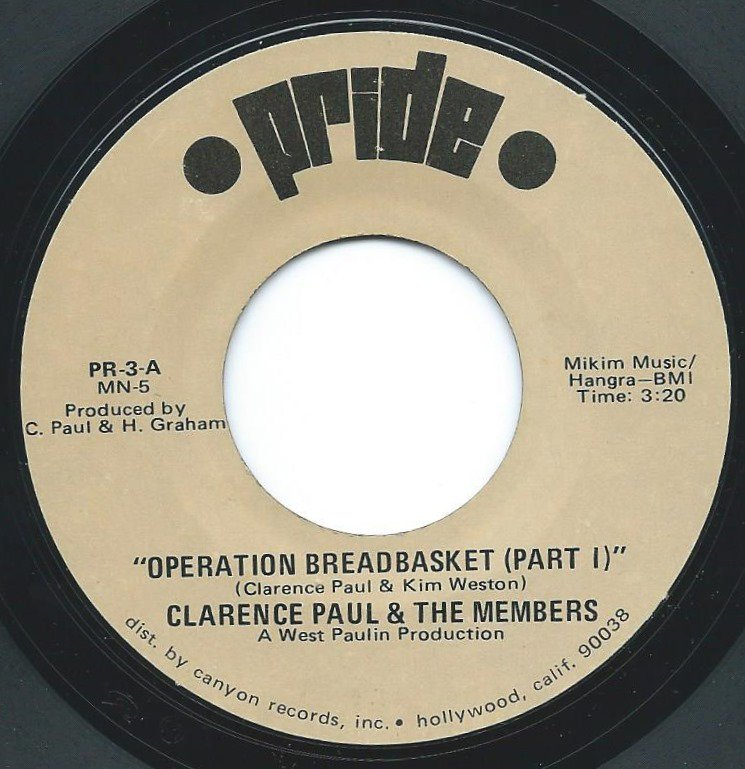CLARENCE PAUL & THE MEMBERS / OPERATION BREADBASKET (7