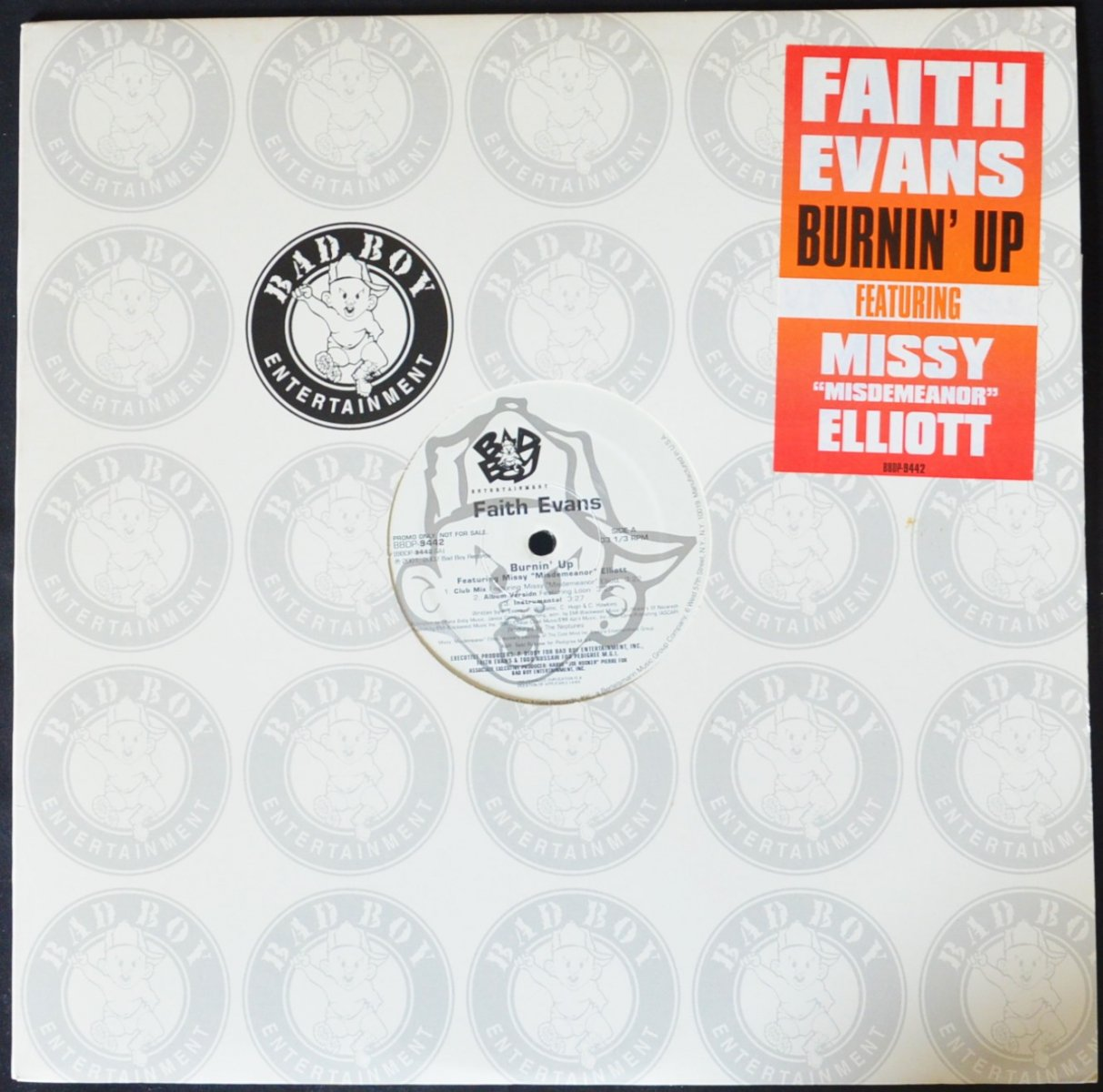 FAITH EVANS / BURNIN' UP (PROD BY THE NEPTUNES) / FAITHFULLY (PROD BY BATTLECAT) (12