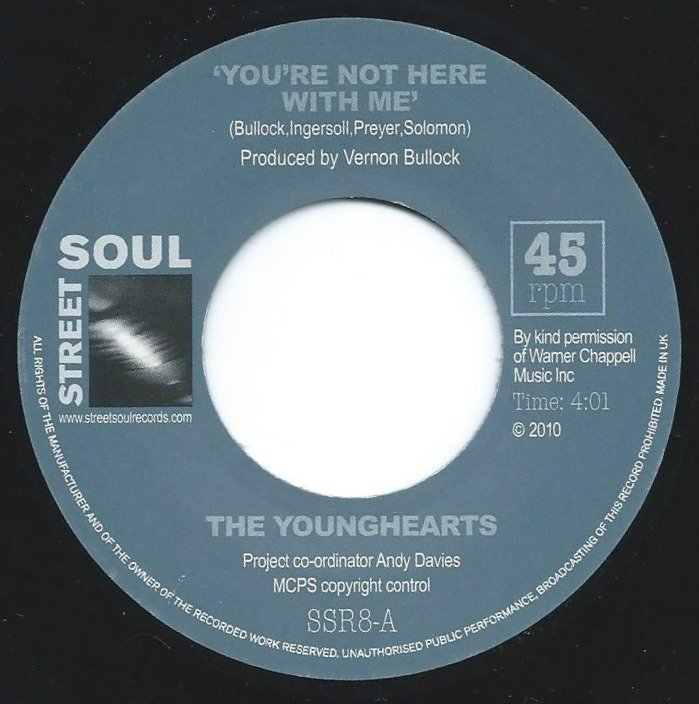 THE YOUNGHEARTS / YOU'RE NOT HERE WITH ME / WE'RE ALL GOD'S CHILDREN (7