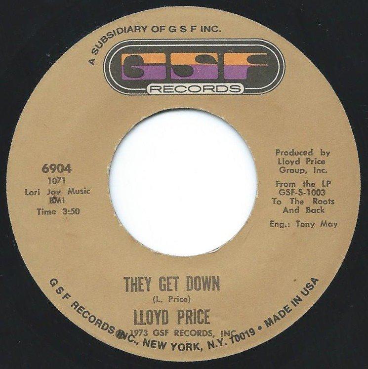 LLOYD PRICE / THEY GET DOWN (7