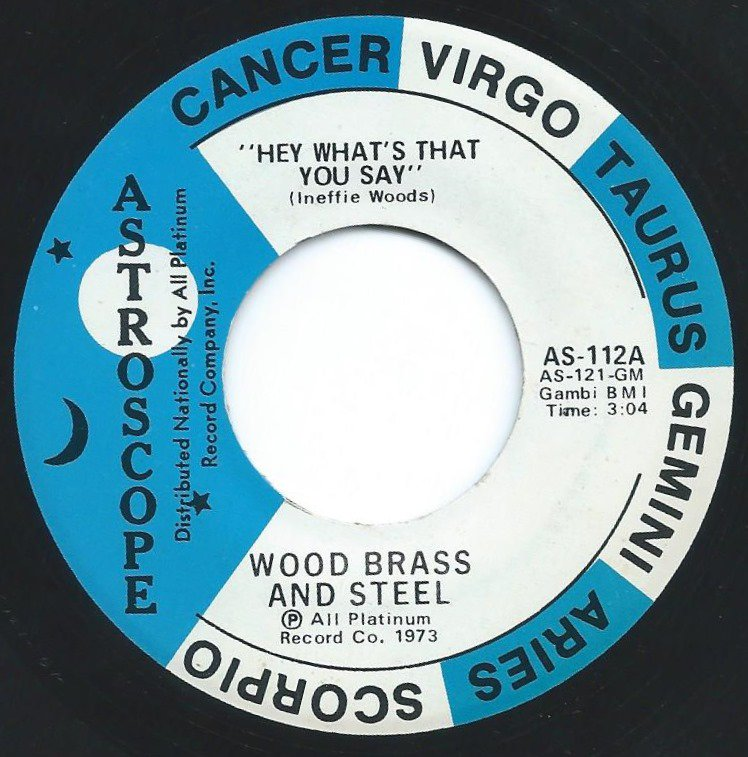 WOOD BRASS AND STEEL / HEY WHAT'S THAT YOU SAY (7