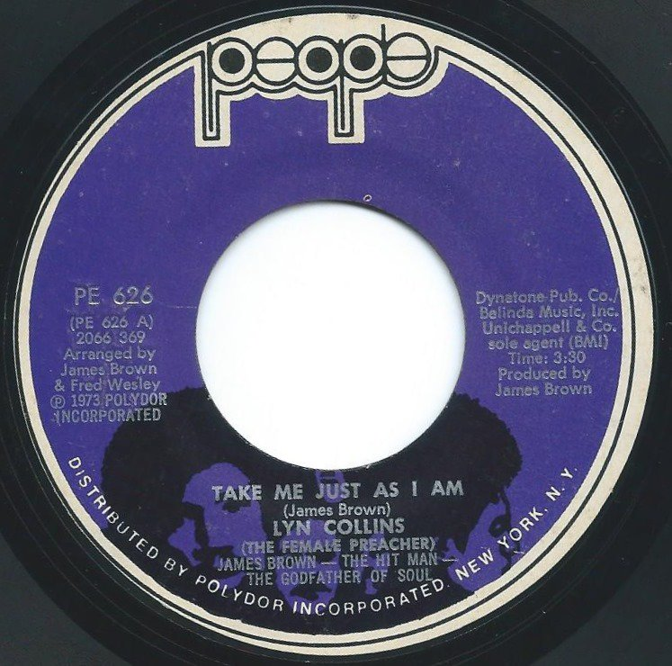 LYN COLLINS / TAKE ME JUST AS I AM / PLEASE MAKE THE WORLD A BETTER PLACE (7
