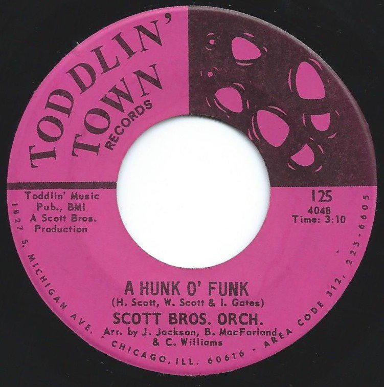 SCOTT BROS. ORCH. / A HUNK O' FUNK / THEY ALL CAME BACK (7