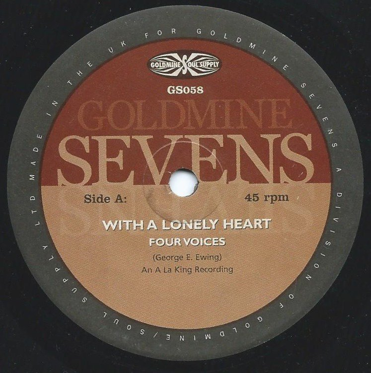 FOUR VOICES / FOUR TRACKS / WITH A LONELY HEART / LIKE MY LOVE FOR YOU (7