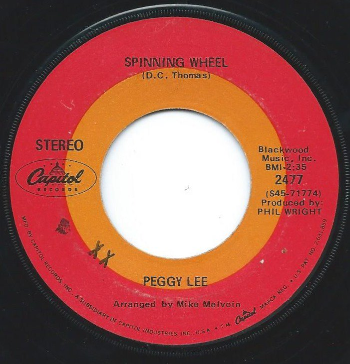PEGGY LEE / SPINNING WHEEL / LEAN ON ME (7