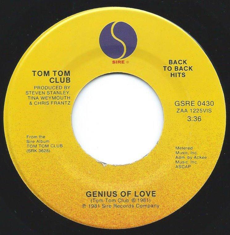 TOM TOM CLUB / GENIUS OF LOVE / WORDY RAPPINGHOOD (7