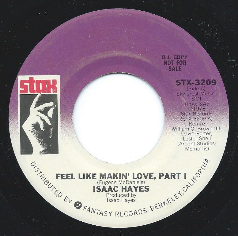 ISAAC HAYES / FEEL LIKE MAKIN' LOVE (7