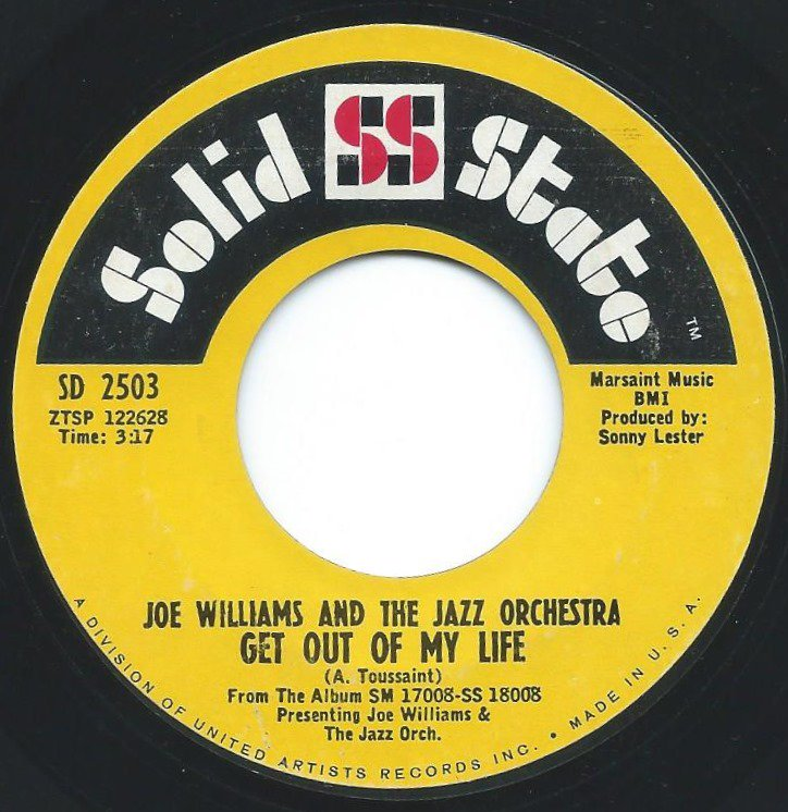 JOE WILLIAMS AND THE JAZZ ORCHESTRA / GET OUT OF MY LIFE / HALLELUJAH I LOVE HER SO (7
