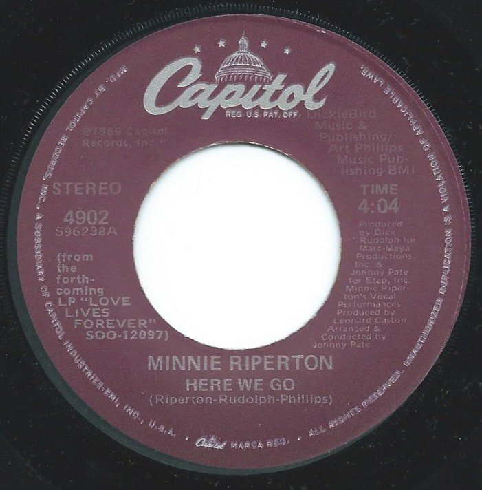 MINNIE RIPERTON / HERE WE GO / RETURN TO FOREVER (7