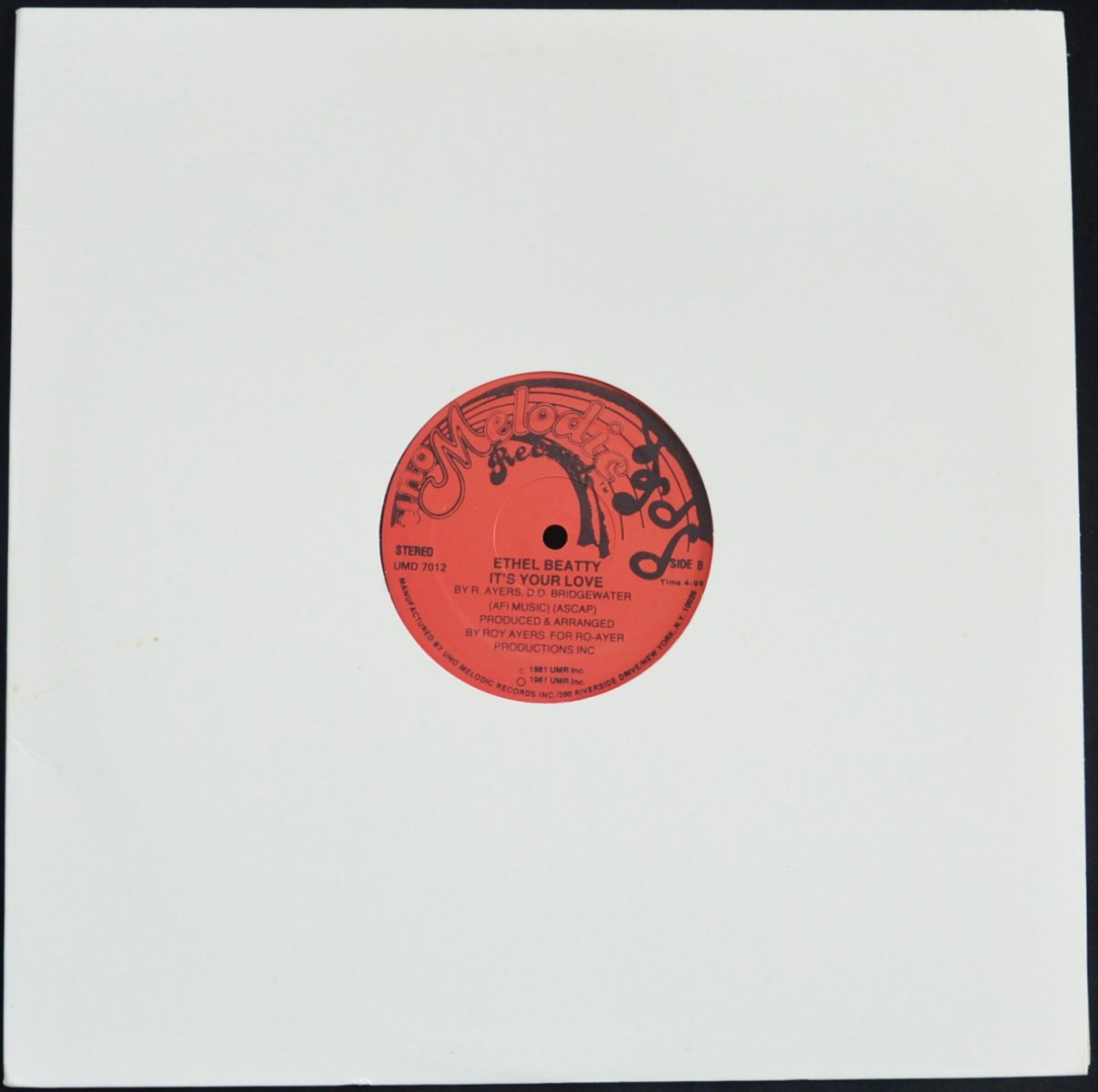 ETHEL BEATTY / I KNOW YOU CARE / IT'S YOUR LOVE (12