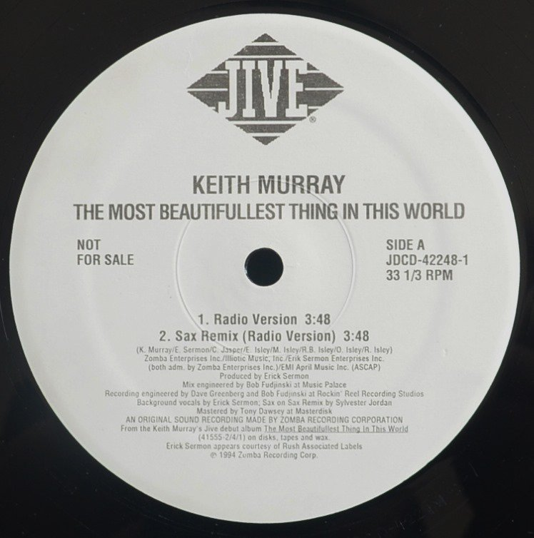 KEITH MURRAY / THE MOST BEAUTIFULLEST THING IN THIS WORLD - SAX REMIX (12