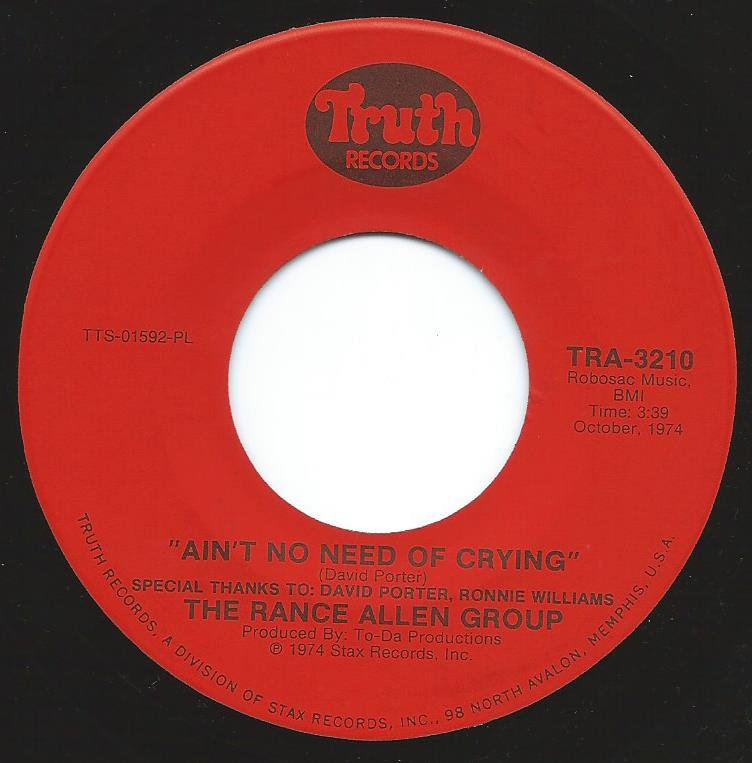 THE RANCE ALLEN GROUP / AIN'T NO NEED OF CRYING (7