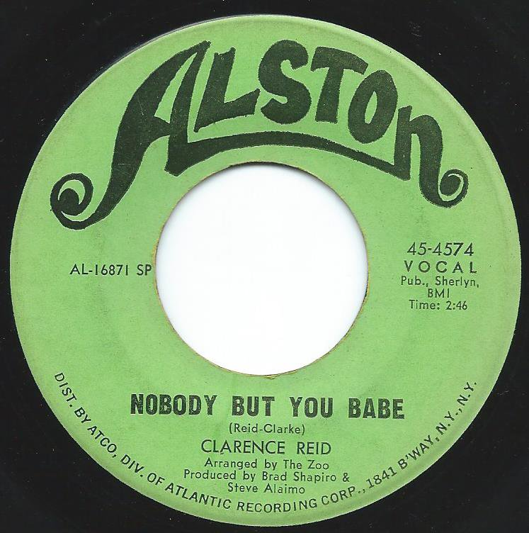 CLARENCE REID / NOBODY BUT YOU BABE (7