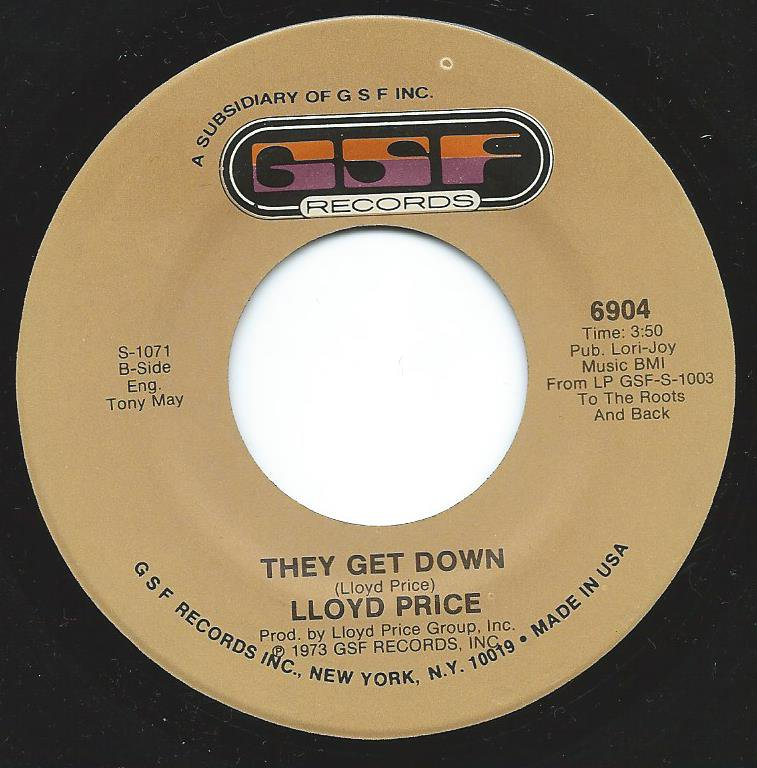LLOYD PRICE / THEY GET DOWN (7
