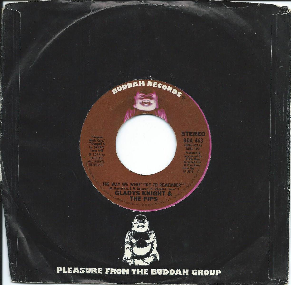 GLADYS KNIGHT & THE PIPS / THE WAY WE WERE / TRY TO REMEMBER (7