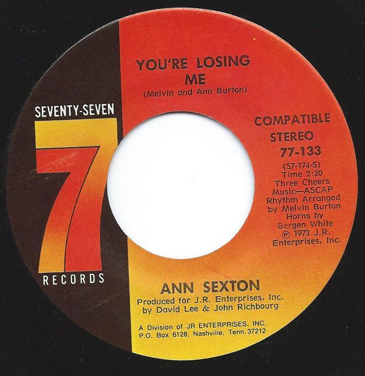ANN SEXTON / YOU'RE LOSING ME (7