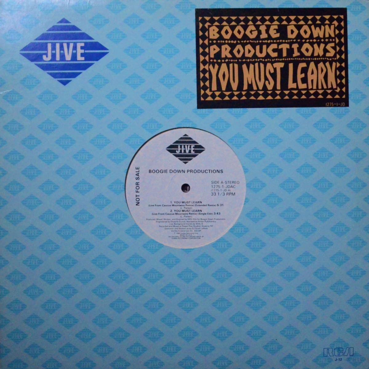 BOOGIE DOWN PRODUCTIONS / YOU MUST LEARN (12