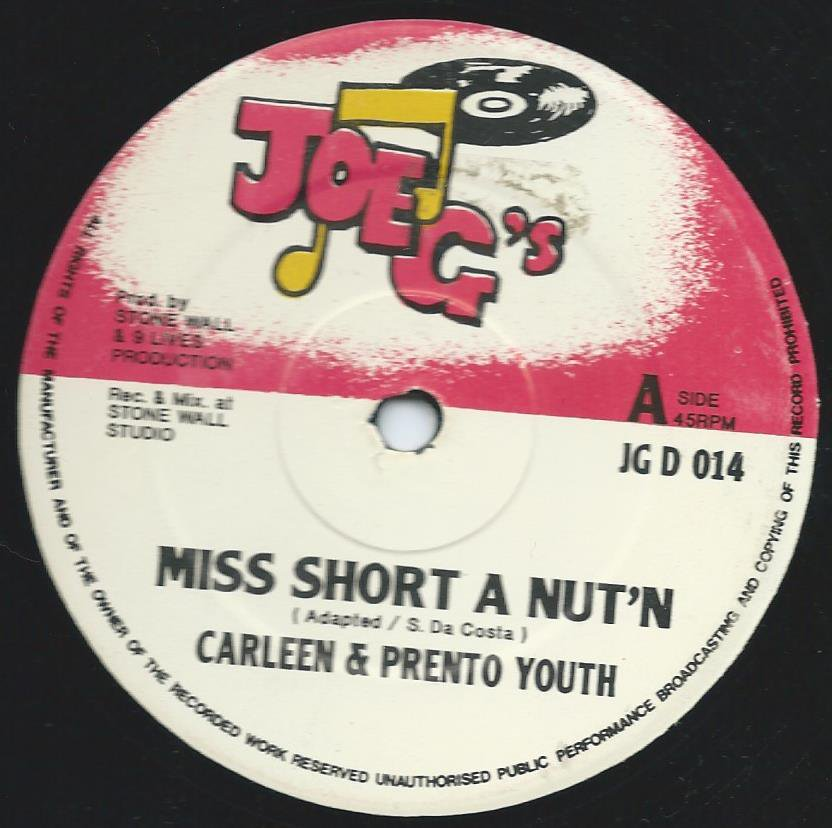 CARLEEN & PRENTO YOUTH / MISS SHORT A NUT'N / MR BIG STUFF (12