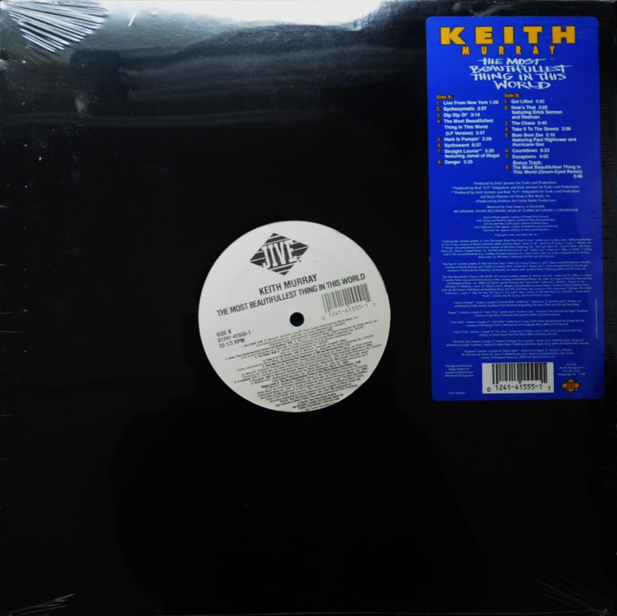 KEITH MURRAY / THE MOST BEAUTIFULLEST THING IN THIS WORLD (LP)