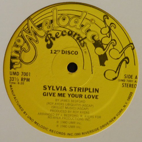 SYLVIA STRIPLIN / GIVE ME YOUR LOVE / YOU CAN'T TURN ME AWAY (12