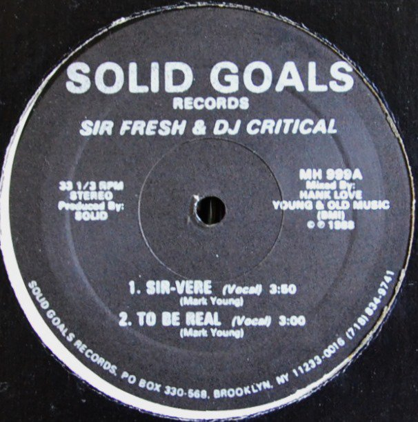SIR FRESH & DJ CRITICAL / SIR-VERE (12