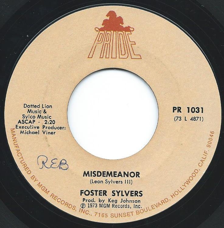 FOSTER SYLVERS / MISDEMEANOR (7