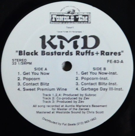 KMD / BLACK BASTARDS RUFFS + RARES (12