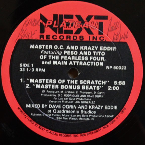 MASTER O.C. AND KRAZY EDDIE / MASTERS OF THE SCRATCH (12