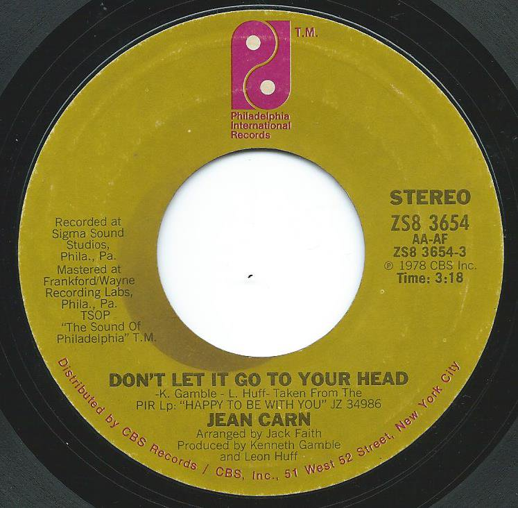 JEAN CARN / DON'T LET IT GO TO YOUR HEAD (7