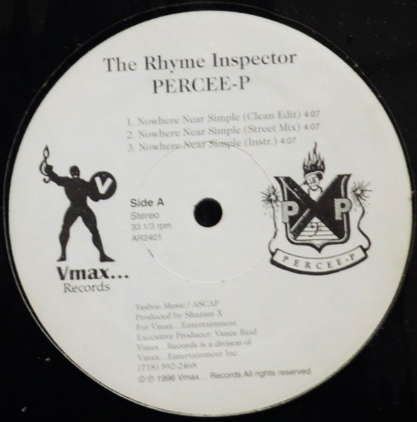 THE RHYME INSPECTOR PERCEE-P / NOWHERE NEAR SIMPLE (12