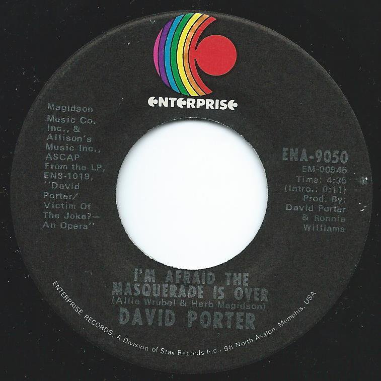 DAVID PORTER / I'M AFRAID THE MASQUERADE IS OVER / HANG ON SLOOPY (7