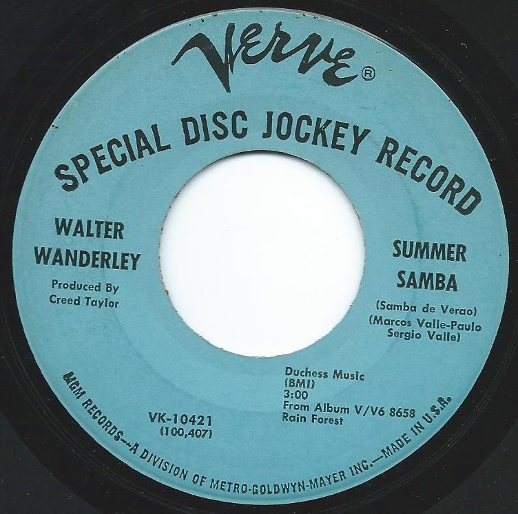 WALTER WANDERLEY / SUMMER SAMBA / CALL ME (7