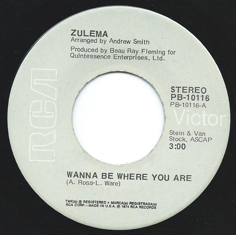 ZULEMA / WANNA BE WHERE YOU ARE (7