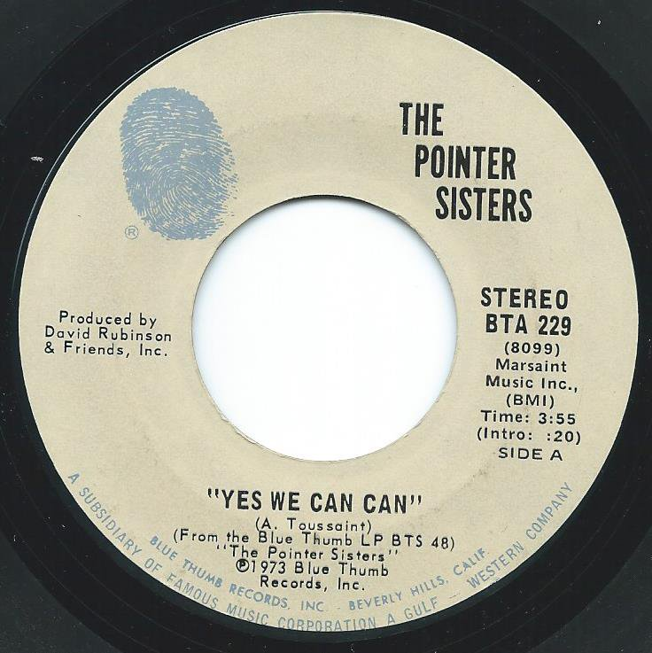 THE POINTER SISTERS / YES WE CAN CAN / JADA (7