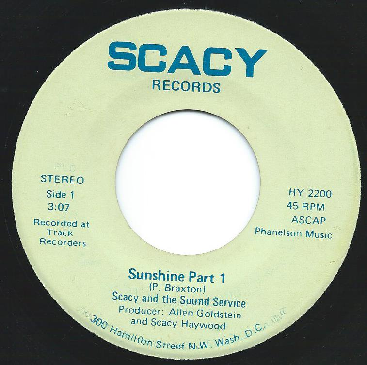 SCACY AND THE SOUND SERVICE / SUNSHINE (7