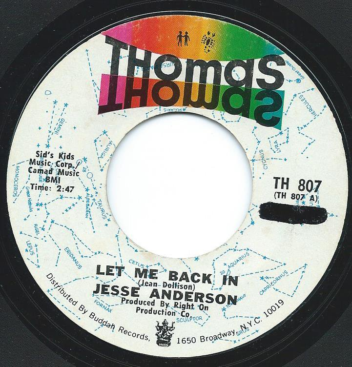 JESSE ANDERSON / LET ME BACK IN (7