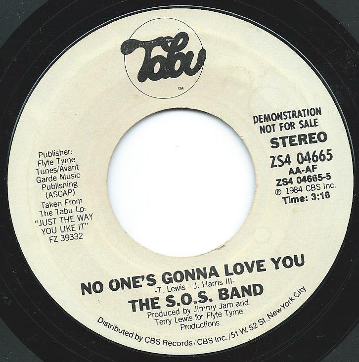 THE S.O.S. BAND / NO ONE'S GONNA LOVE YOU (7