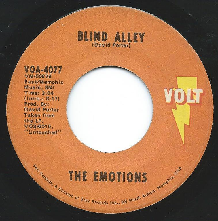 THE EMOTIONS / BLIND ALLEY / MY HONEY AND ME (7