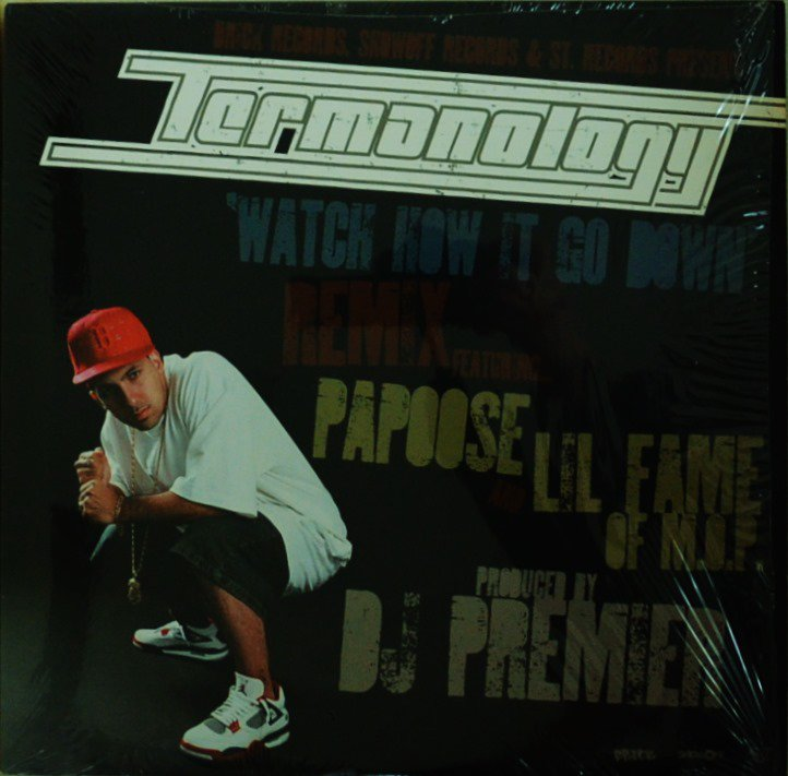 TERMANOLOGY FT.PAPOOSE & LIL FAME / WATCH HOW IT GO DOWN REMIX (PROD.BY DJ PREMIER)/ FAR AWAY (12
