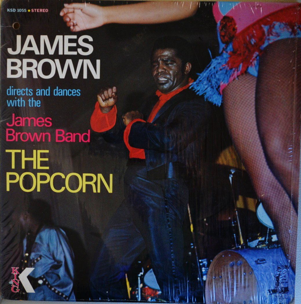 JAMES BROWN DIRECTS AND DANCES WITH THE JAMES BROWN BAND / THE THE POPCORN (LP)
