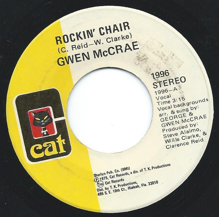 GWEN McCRAE / ROCKIN' CHAIR / IT KEEPS ON RAINING (7