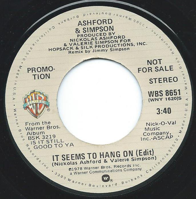 ASHFORD & SIMPSON / IT SEEMS TO HANG ON (EDIT) (7