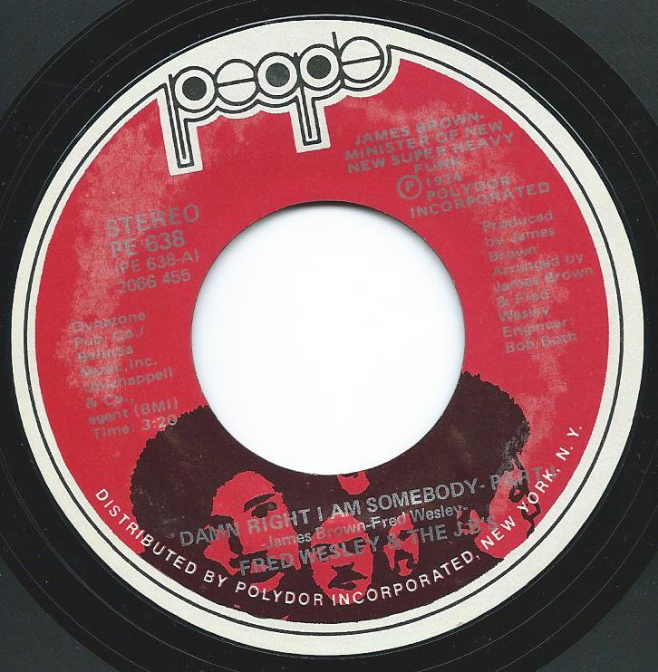 FRED WESLEY & THE JB'S / DAMN RIGHT I AM SOMEBODY (7