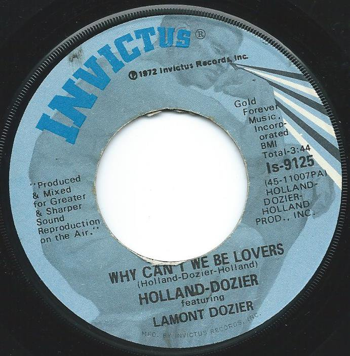 HOLLAND & DOZIER / WHY CAN'T WE BE LOVERS / DON'T LEAVE ME (INSTRUMENTAL) (7
