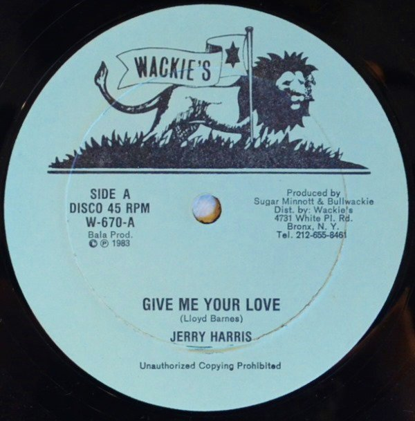 JERRY HARRIS / JERRY JOHNSON / GIVE ME YOUR LOVE / LOVE CALL (12