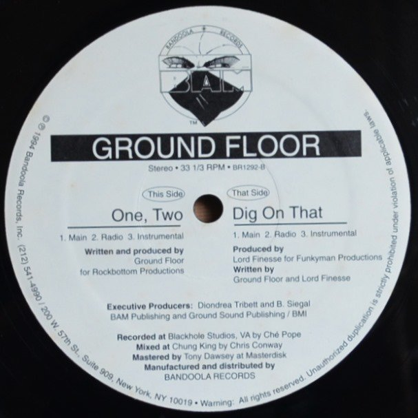 GROUND FLOOR / DIG ON THAT (PROD.LORD FINESSE) / ONE, TWO (12
