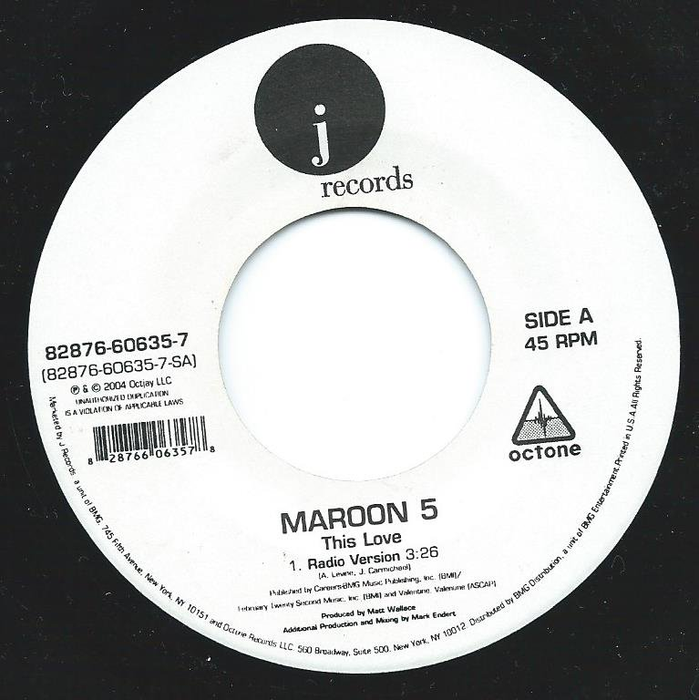 MAROON 5 / THIS LOVE / HARDER TO BREATHE (7