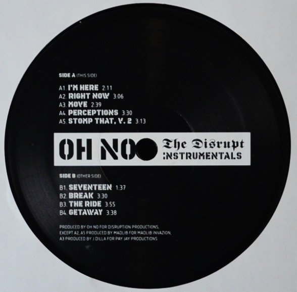OH NO / THE DISRUPT (INSTRUMENTALS) (2LP)