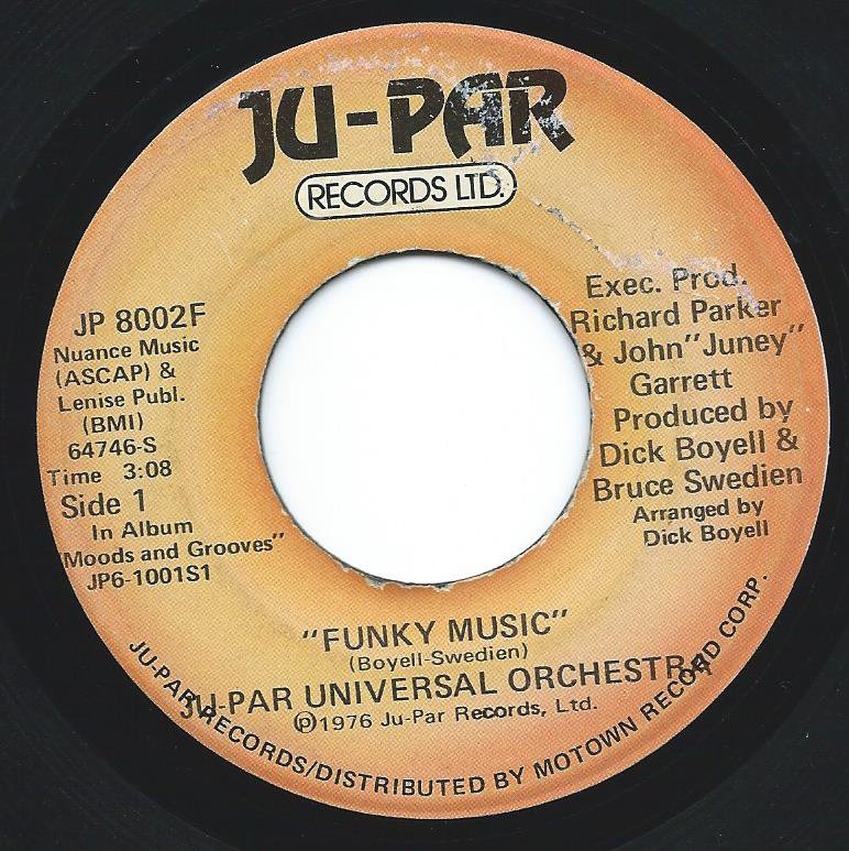 JU-PAR UNIVERSAL ORCHESTRA / FUNKY MUSIC / TIME (7
